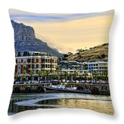Sunset In Cape Town Throw Pillow