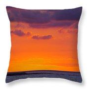 Sunset In Casablanca Throw Pillow