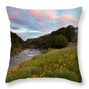 Sunset In Cobb Valley Of Kahurangi Np Of New Zealand Throw Pillow