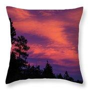 Sunset In Colorado Throw Pillow