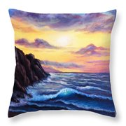 Sunset In Colors Throw Pillow