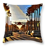 Sunset In Daytona Beach Throw Pillow