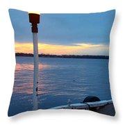 Sunset In December Throw Pillow
