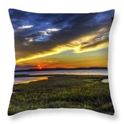 Sunset In Delaware Throw Pillow
