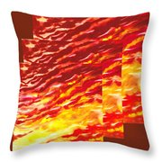 Sunset In Desert Abstract Collage  Throw Pillow