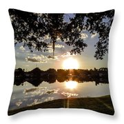 Sunset In Florida Throw Pillow
