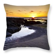 Sunset In Iceland Throw Pillow