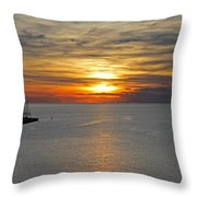Sunset In Koper Throw Pillow