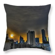 Sunset In Manhattan's Lower East Side Throw Pillow