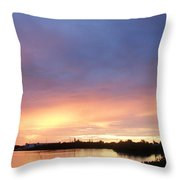 Sunset In Marathon Key Throw Pillow