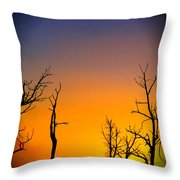 Sunset In Mesa Verde Throw Pillow