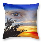Sunset In My Eyes Throw Pillow
