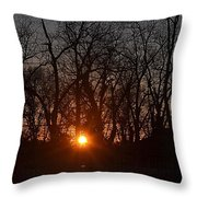 Sunset In Olde Town Throw Pillow