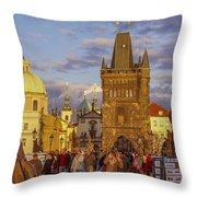 Sunset In Prague Throw Pillow by Raffi  Bashlian