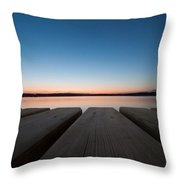 Sunset In Pula Throw Pillow