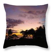 Sunset In Punta Banco Throw Pillow