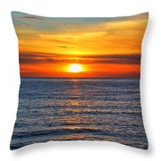 Sunset In San Clemente Throw Pillow