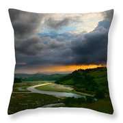 Sunset In Spain 2 Throw Pillow