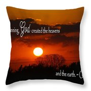 Sunset In The Beginning Throw Pillow