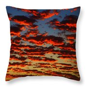 Sunset In The Clouds Throw Pillow