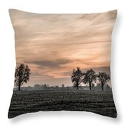Sunset In The Country - Orange Throw Pillow