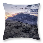 Sunset In The Davis Mountains Throw Pillow