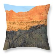 Sunset In The Desert Canyon 2 Throw Pillow