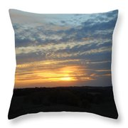 Sunset In The Distance Throw Pillow