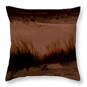 Sunset In The Dunes Throw Pillow