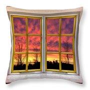 Sunset In The Garden Throw Pillow