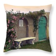 Sunset In The Garden Throw Pillow by Terry Reynoldson