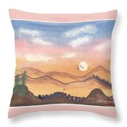 Sunset In The Hills Throw Pillow