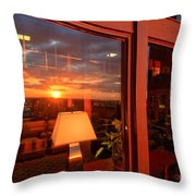 Sunset In The Lobby Throw Pillow