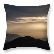 Sunset In The Mountain Throw Pillow