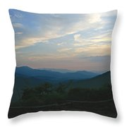Sunset In The Mountans Throw Pillow