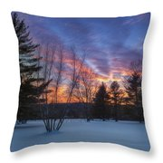Sunset In The Park Square Throw Pillow