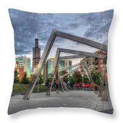 Sunset In The Park Throw Pillow