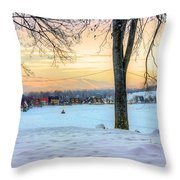 Sunset In The Snow Throw Pillow