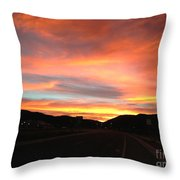 Sunset In The Southwest Throw Pillow