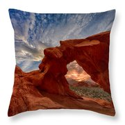 Sunset In The Valley Of Fire Throw Pillow