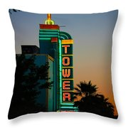Sunset In The Ville Throw Pillow