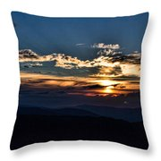 Sunset In The West Throw Pillow