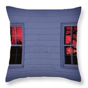 Sunset In The Windows Throw Pillow