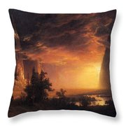 Sunset In The Yosemite Valley Throw Pillow