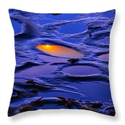Sunset In Tide Pools Throw Pillow