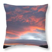 Sunset In Vail Colorado Throw Pillow