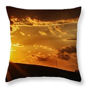Sunset In Vernon County Throw Pillow