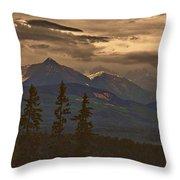 Sunset In Yoho Throw Pillow