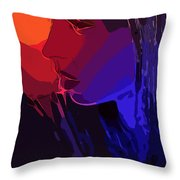 Sunset In Your Face Throw Pillow