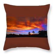 Sunset Key Largo Filtered Throw Pillow